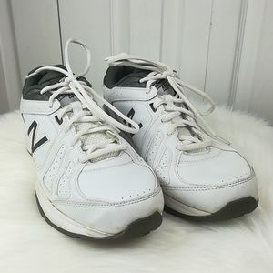 New Balance 409 white and gray tennis shoes